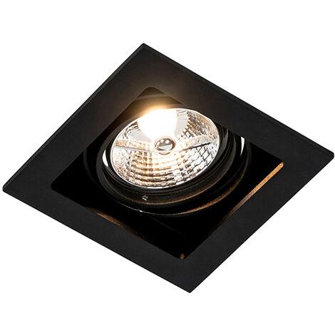 QAZQA + Moderno Foco empotrable negro orientable - Artemis 70 Aluminio Cuadrada Adecuado para LED Max. 1 x 50 Watt