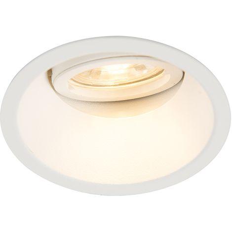 QAZQA Moderno Foco empotrado blanco orientable - ALLOY Aluminio Redonda Adecuado para LED Max. 1 x 50 Watt