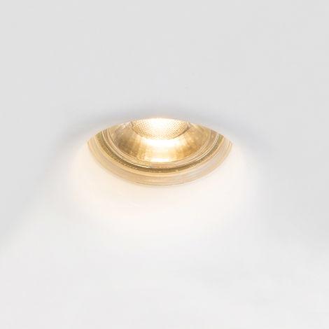 QAZQA Moderno Foco empotrado blanco yeso - GIPSY Moon Redonda Adecuado para LED Max. 1 x 35 Watt