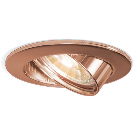 QAZQA Moderno Foco empotrado cobre orientable - EDU Aluminio /Acero Redonda Adecuado para LED Max. 1 x 50 Watt