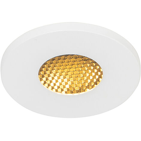 QAZQA Moderno Foco empotrado moderno blanco IP54 - SHED Honey Aluminio Redonda Adecuado para LED Max. 1 x 50 Watt