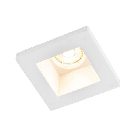QAZQA Moderno Foco empotrado moderno mini cuadrado - GIPSY Zero Yeso Cuadrada Adecuado para LED Max. 1 x 35 Watt
