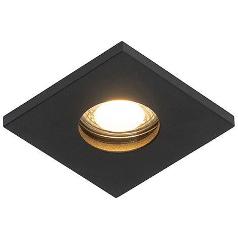 QAZQA Moderno Foco empotrado moderno negro IP54 - DOKU Aluminio Cuadrada Adecuado para LED Max. 1 x 50 Watt