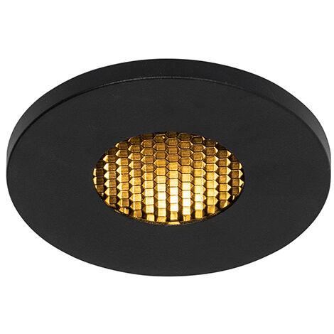 QAZQA Moderno Foco empotrado moderno negro IP54 -SHED Honey Aluminio Redonda Adecuado para LED Max. 1 x 50 Watt