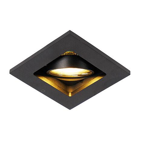 QAZQA Moderno Foco empotrado negro - QURE Aluminio Cuadrada Adecuado para LED Max. 1 x 50 Watt