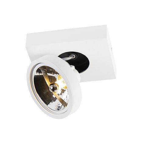 QAZQA Moderno Foco moderno blanco orientable - GA 1 Aluminio Rectangular Adecuado para LED Max. 1 x 40 Watt