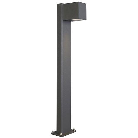 QAZQA Moderno Lámpara de pie industrial de pie antracita 30 cm IP44 - Baleno Aluminio /Vidrio Alargada Adecuado para LED Max. 1 x 11 Watt