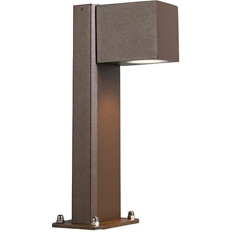 QAZQA Moderno Lámpara de pie industrial marrón óxido 30 cm IP44 - Baleno Aluminio /Vidrio Alargada Adecuado para LED Max. 1 x 11 Watt