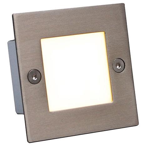 QAZQA Moderno Lámpara empotrada LED LEDlite Square 7 Plástico /Acero inoxidable Cuadrada Incluye LED Max. x 1.2 Watt