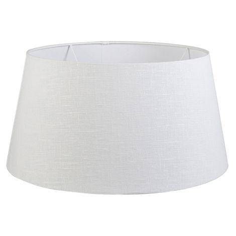 QAZQA Moderno Lino Pantalla lino blanco 50/40/26 , Redonda / Cónica Pantalla lámpara de pie