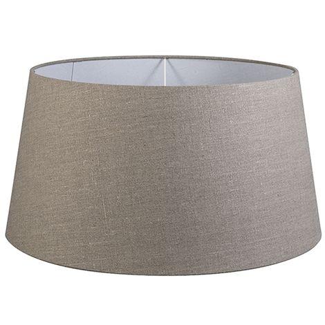 """main image of """"QAZQA Moderno Lino Pantalla lino gris 55/45/28 , Redonda / Cónica Pantalla lámpara de pie"""""""