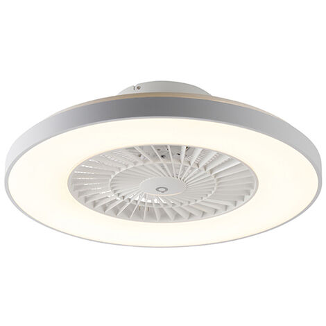 """main image of """"QAZQA + Moderno Ventilador de techo blanco efecto-estrella regulable - CLIMO Aluminio /Plástico /Acero Redonda Incluye LED Max. 1 x 40 Watt"""""""