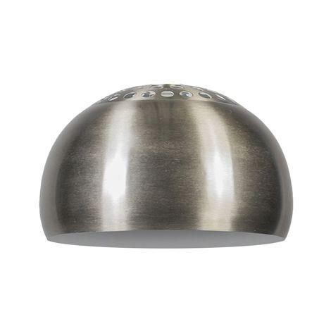 QAZQA Moderno,Retro/Vintage Acero Pantalla GLOBE 33cm acero , Esfera Pantalla lámpara colgante