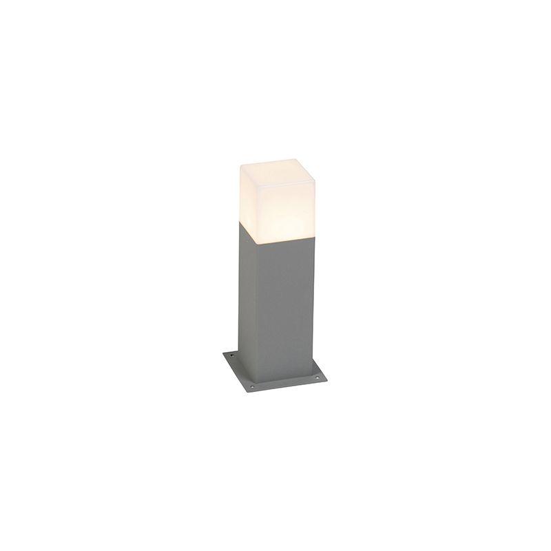 Palo da terrazza denmark - Moderno - Alluminio,Plastico - Grigio - Allungato Max. 1 x Watt - Qazqa
