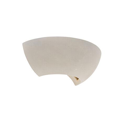 QAZQA Retro/Vintage Aplique industrial semicircular de hormigón - Chatou Piedra/cemento Otros Adecuado para LED Max. 1 x 25 Watt