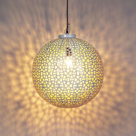 Watt para x Metálica blanca RADIANTE QAZQA 45 Redonda LED cobre Adecuado Lámpara RetroVintage vintage colgante redonda Max1 KTlFc1J3