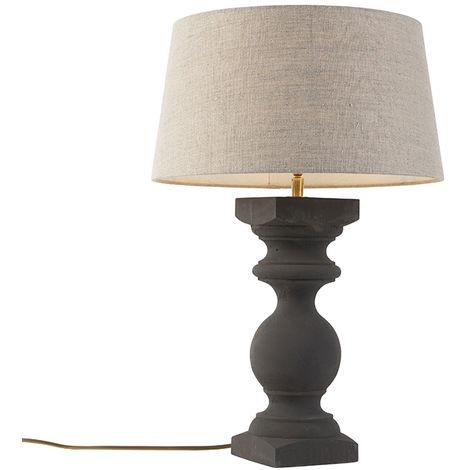 Qazqa Rik Lampes de table Oblong Gris