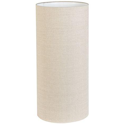 QAZQA Rústico Algodón Pantalla de tela taupe 30/30/65 - Rich , Redonda / Cilíndrica Pantalla de gancho