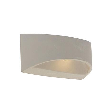 QAZQA rústico Aplique rústico media semiesfera hormigón - ADELAIDA Piedra/cemento Otros Adecuado para LED Max. 1 x 25 Watt