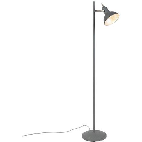 QAZQA rústico Lámpara de pie moderna gris oscuro - TOMMY 1 Acero Alargada Adecuado para LED Max. 1 x 40 Watt