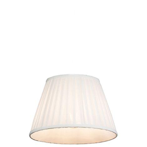 QAZQA Seda Pantalla plisada blanca 25 / 16.5 cm , Redonda / Cónica Pantalla lámpara colgante,Pantalla lámpara de pie