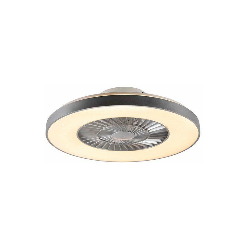 + Ventilatori da soffitto climo - Design - Plastico,Acciaio - Bianco/Argento - Tondo Non sostituibile Max. 1 x 40 Watt - Qazqa