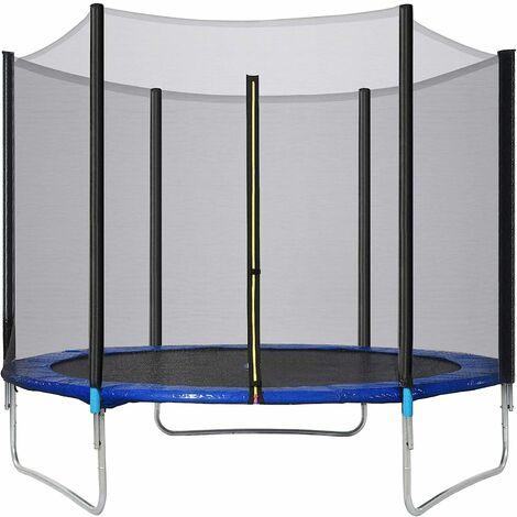 Qdreclod 6FT Trampoline de Fitness avec Filet de Protection et Couvercle de Cadre, Trampoline pour Enfants Adultes en Plein Air pour l'entraînement de Saut