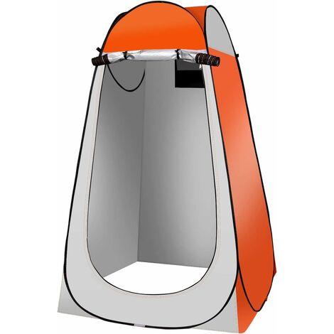 Qdreclod Portable Tente de Douche Camping, Étanche Cabine de Changement Extérieur Tentes de Toilette Abri de Plein Air, 120 * 120 * 180 CM, Comprend Piquet de Tente, Poteau, Corde, Sac de Rangement