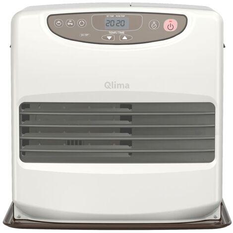 Qlima Calefactor de parafina portátil 428W blanco/chocolate SRE 9046C2