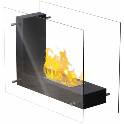 Qlima Fire L-Shaped Ethanol Fireplace 45x20.5x30 cm FFB 830