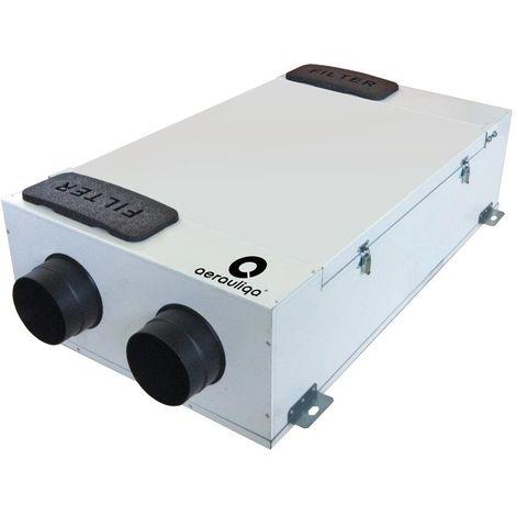 QR230E Lüftungsanlage mit Bypassfunktion und Entalpie Wärmetauscher