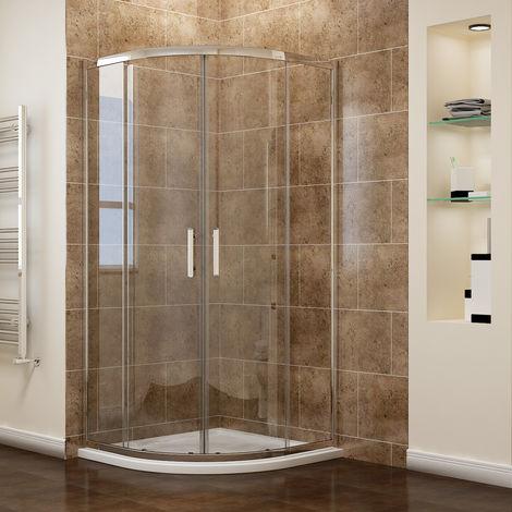 "main image of ""Quadrant Shower Cubicle Enclosure Sliding Door 6mm Easy Clean Glass"""