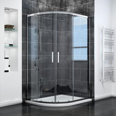 Quadrant Shower Cubicle Enclosure Sliding Door 6mm Easy Clean Glass