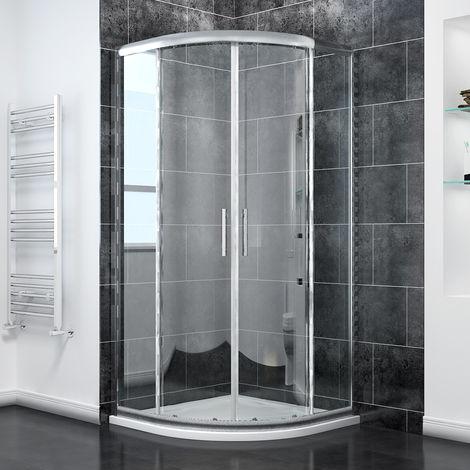 "main image of ""Quadrant Shower Enclosure 6mm Tempered Sliding Glass Cubicle Door"""