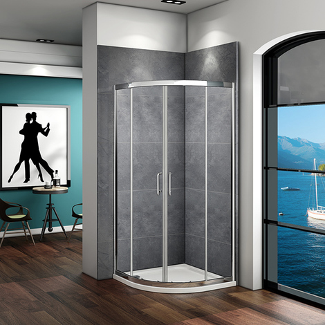Quadrant Shower Enclosure Walk In Corner Cubicle Door