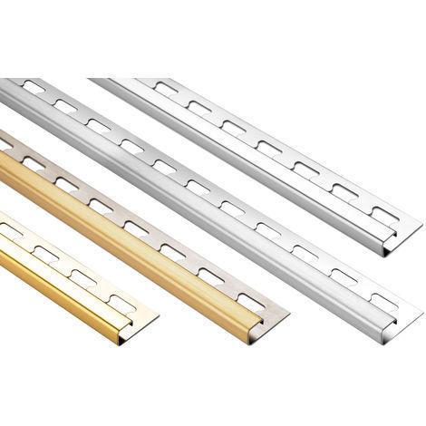 Quadrat-Profil 10mm | Edelstahl Fliesenschienen - viele Modelle | EQ Sparpaket