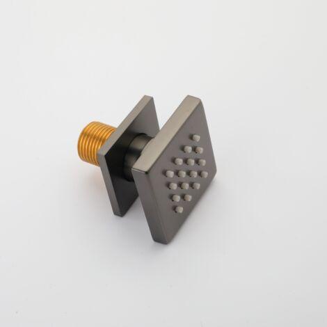 Quadratischer Duschkopf aus grauer Bronzebronze