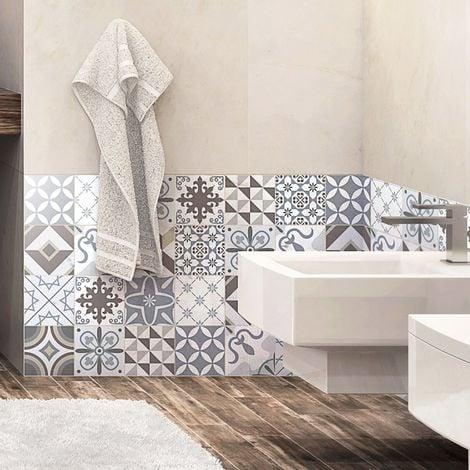 Quadretti di cemento adesivo parete–Azulejos–15x 15cm–24pezzi