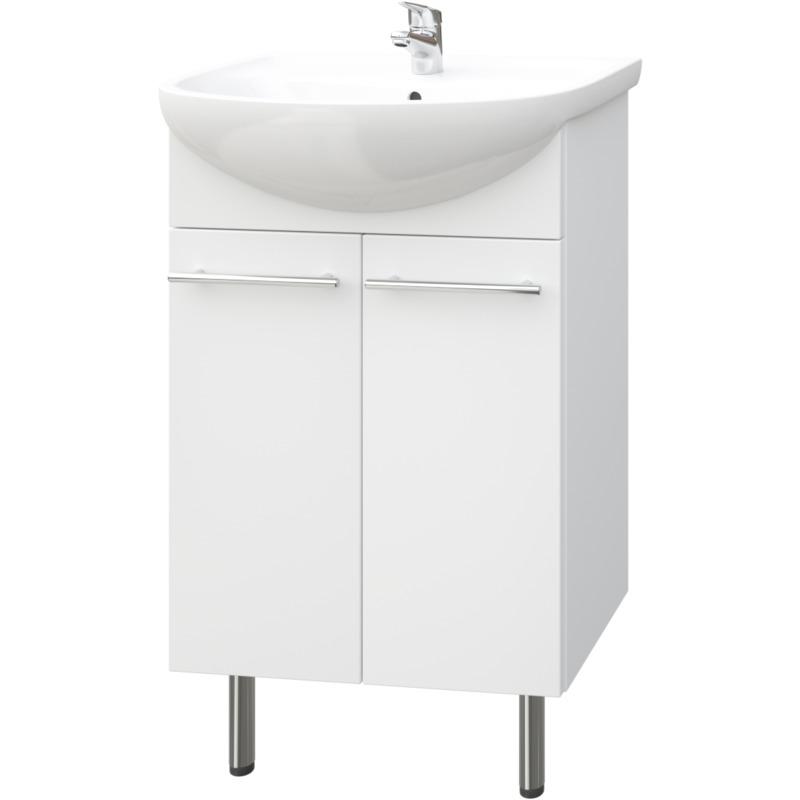 Quadro Bad Waschtisch Unterschrank 50 Cm Weiss Hochglanz 2 T Rig Soft Close Keramik Badezimmer Waschtischunterschrank