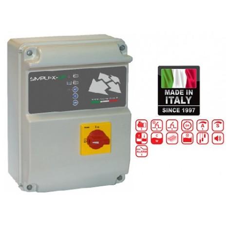 Schema Quadro Elettrico Per Pompa Sommersa Trifase : Quadro elettrico simplex up m 3 per 1 elettropompa volt 220 da hp 0