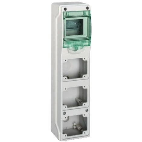 Quadro Schneider industriale 4 moduli per 3 prese incasso 10362