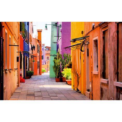 Quadro Strada - Paesaggio - per Soggiorno, Camera - in Cotone, Legno, 50 x 70 x 3 cm