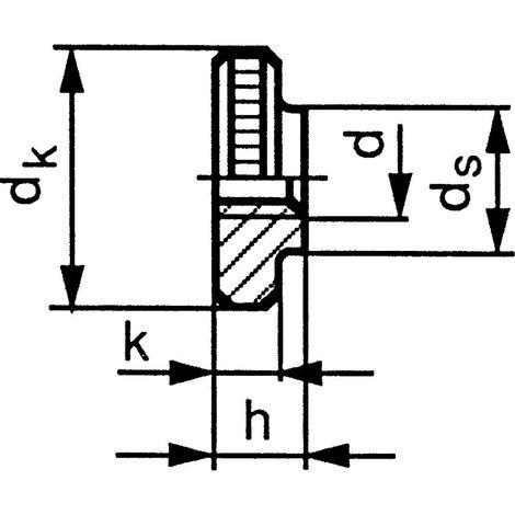 Qualfast M5 Knurled Thumb Nut Thin BZP (5)- you get 5