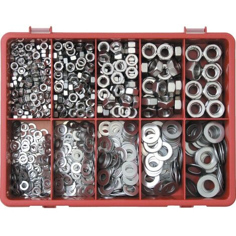 Qualfast Metric Nut And Washer Kit A2 AVG-890PC