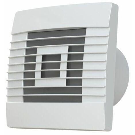 Qualité mur de la cuisine hotte avec minuterie 100mm et la gravité obturateur ventilateur prestige