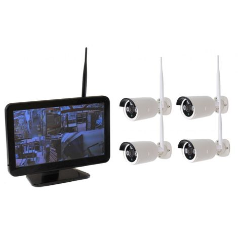 Quality 4 x 1080P Outdoor KW Wireless Camera Kit with 500 GB Hard Drive [002-2250]