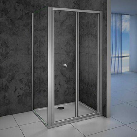 Quality Bifold Shower Enclosure Walk In Safety Glass, side panel