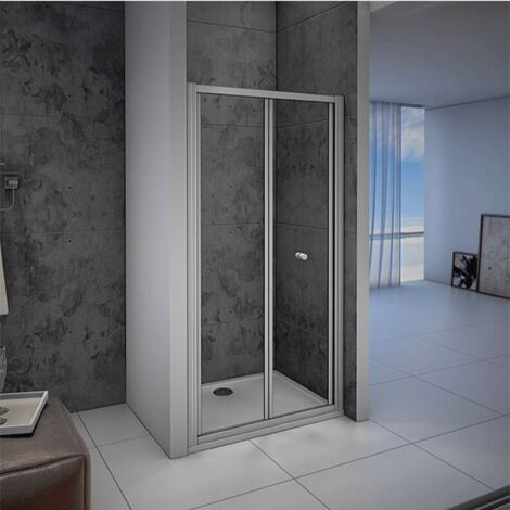 Quality Bifold Shower Enclosure Walk In Safety Glass, Wet room side panel Stone tray