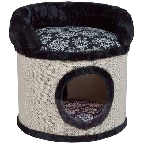 Quapas! Tonneau à gratter Pebbles Noir 45x45x50 cm
