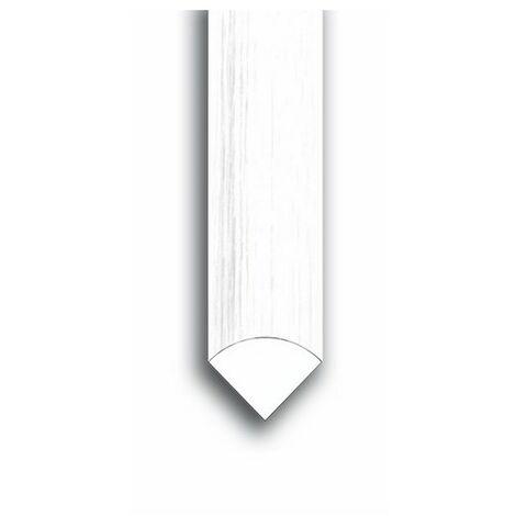 Quart de rond enrobé blanc 15x15mm 2.20m